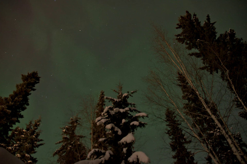 Timelapse of pulsating aurora borealis early in the morning over fairbanks.