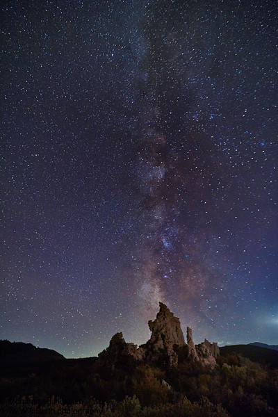 Night Sky Over Tufa Towers - Mono Lake, CA