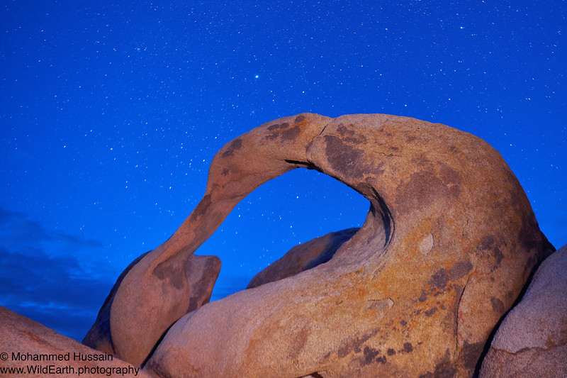 Night Sky Over Mobius Arch - Alabama Hills Recreation Area Whitney Portal Road, CA