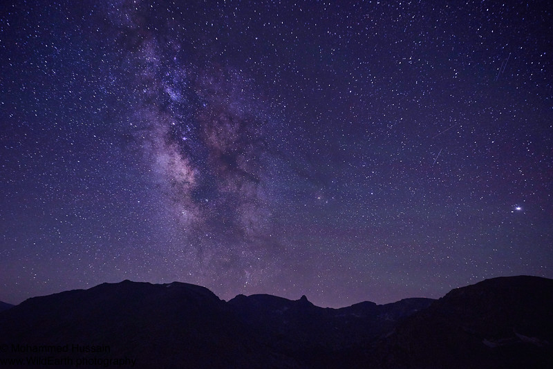 Milky Way Over Rocky Mountain National Park, CO