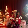 Mia and Lolo with Santa 2013