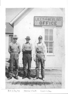 Bill Liley, Sr., Charlie Liley, Louis Liley at Liley and Merlino Office