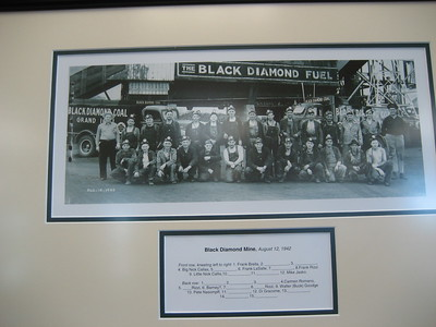 Liley Black Diamond Mine Memorabilia at McDonalds at Baseline Road and Highway 287