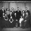 T.A. Spackman Family 1947 - Back: Roy, Joyce, Quinn, Bill, Hazel, Mel.  Front: Amy, Rick, Fred, Randy, Rowena, Jennifer, T.A.