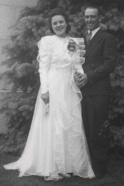 Fred and Rowena Spackman (A.K.A. Grandpa and Grandma), July 10 1941, Cardston