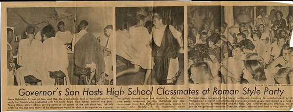 1961 Regis High Toga Party at the Colorado Governor's Manson