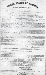 US Citizenship Petition for Naturalization for Nicola Di Domenico