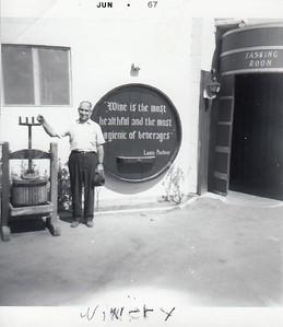 Papa Frank with the grape press at California 1941