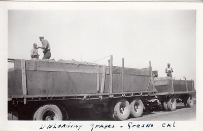 Unloading grapes in Fresno 1941