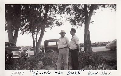 Papa Frank shootin the bull in San Bernardino 1941