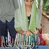 Lighting Chanuka candles