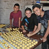 """Making donuts 'sufganyiot' for the """"Janukah Fiesta""""!! Photo by Kimberly Duenas, December 2012."""