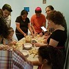 "We began with a spirited Shabbat shuvah service and had Hilary, an orthodontist by day and a baker by night,  lead an interactive challa baking workshop.  As the dough rose I led a study session on teshuvah entitled ""Lift the Sparks; Illuminate the Cracks"" according to the late ""Rabbi"" Leonard Cohen.  We played Cohen's music and talked about the Ten Days of Atonement as a vehicle for healing our brokenness to let the light get in."