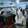 Praying in Armenia Shul with Sefer Torah donated by kulanu
