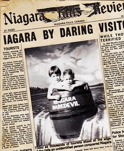 Danny and Anna Going over Niagara Falls in a Barrell