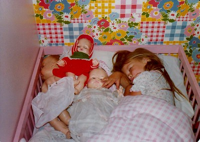 Anna Sleeping with her Dollies