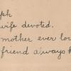1892 gravestone epitaph of Clementina Marian Morrison Ericks