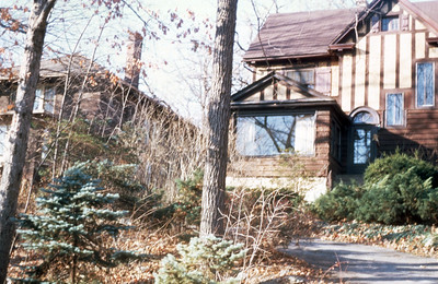 Exterior of Comely Bank, home of Paul and Jean Harris in Chicago, Illinois, USA. 1996.