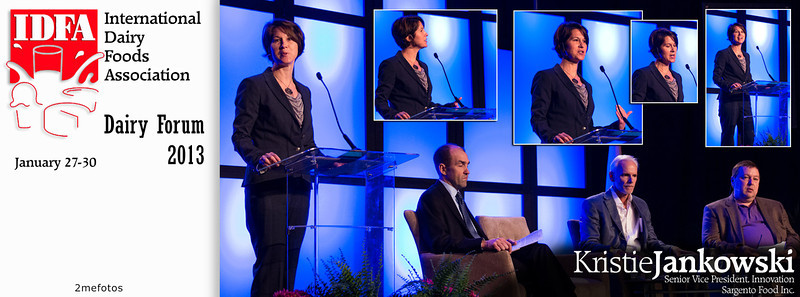 Kristie Jankowski speaking at IDFA (International Dairy Foods Association), Dairy Forum 2013, Florida