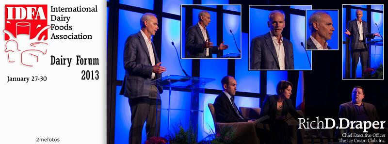 Rich D. Draper speaking at IDFA (International Dairy Foods Association), Dairy Forum 2013, Florida