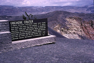 Ubehebe Crater near Death Valley Monument