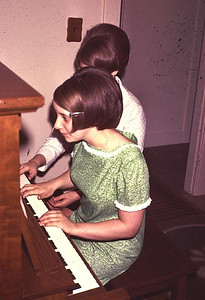 Marcella cowan and Kathy playing piano