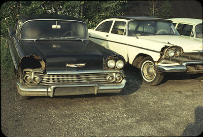 rusted cars in jamestown