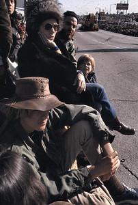 This was at the Pasadena Rose Parade. I see Gary with his western hat and John.