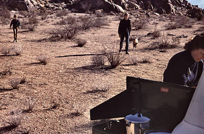 John, Gary and Tippy were exploring the area around our land at Apple Valley as Mom cooks up a lunch.