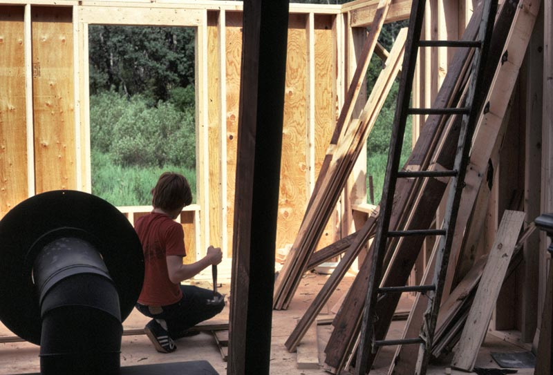 John was helping Mike add a room onto the house in mcCall.