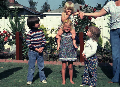 This is Joe, Kim with Erika on her shoulders and Kristina looking on.