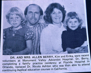 Newspaper clipping of Kathy and her family before Allen so i am not sure of the date.