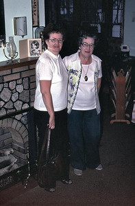 This was taken in front of the fire place at 8 Benson Street. Grandpa Edberg built this stone fireplace sometime in the 1920s.