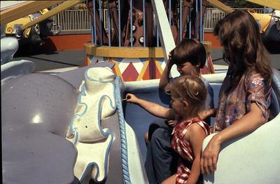 Dumbo ride with Linda, Joe and Kristina.
