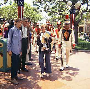 Gary and Evald at the Parade for 4th of July in Disneyland.
