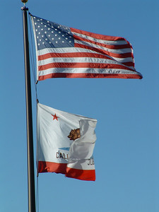 The flag pole at Edna Valley Office Bldg