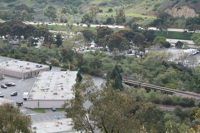 Looking down at our RV park (Santa Fe RV Park)