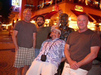 John, Jeff, Jim, Joe with Sonny Bono at Palm Springs, California