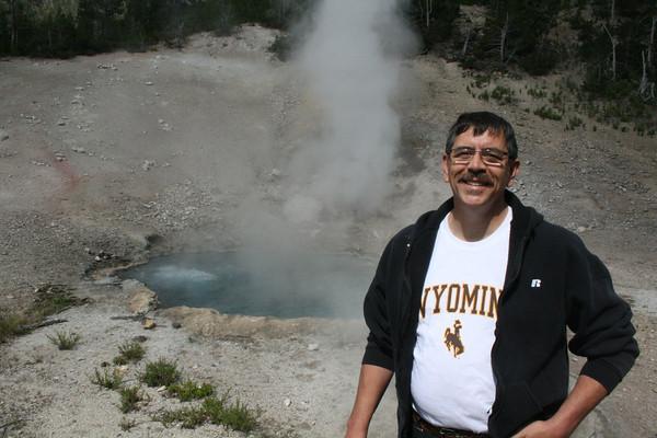 Joe at geyser