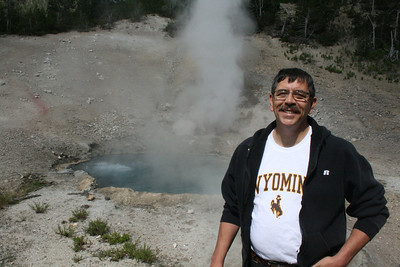 Joe at geyser