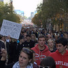 This was at the Rally to Restore Sanity. The crowd went from Chinatown all the way down to the mall.