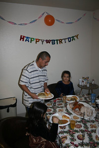Christmas celebration with Joe's family at Lynday and Lorenzo's house, December 16, 2010