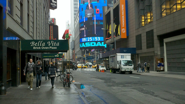 43rd St, looking east towards Broadway