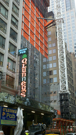 Cladding to 9th floor. Hyatt Times Square, 135 West 45th Street - 02/02/2012 (Android)