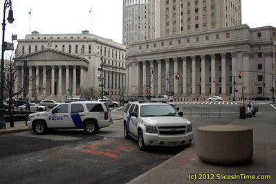 City Hall and Federal Courthouse area