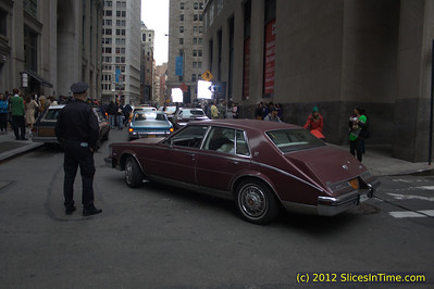 Movie being filmed a block from Wall Street