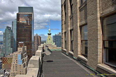 On the ledge of the Paramount Building - New York - April 27, 2012