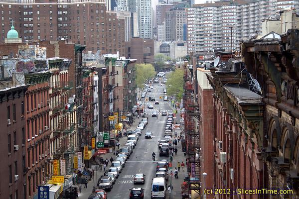 A walk over the Manhattan Bridge - April 16, 2012