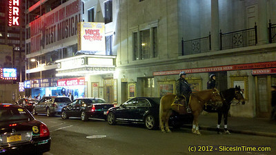 Theater patrol, 45th St between Broadway and 8th Ave. - New York, NY