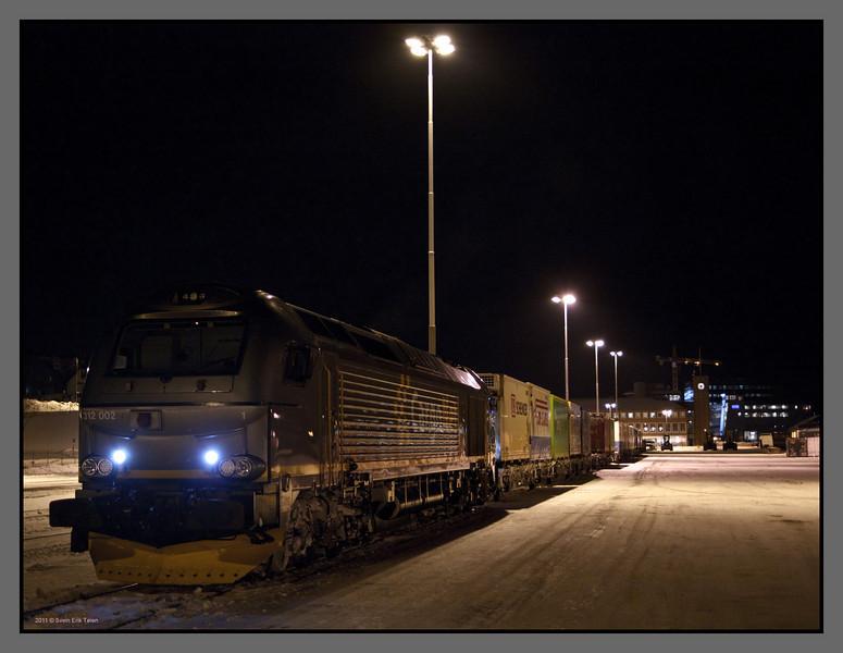 Freight train<br /> Bodø railway station